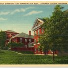 Anderson College, Anderson, NC c1940s Linen Postcard