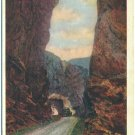 Tunnel along Rainbow Route, Salida, CO c1935 Postcard