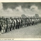 Company Drill at Camp Meade, MD WWI-Era Postcard