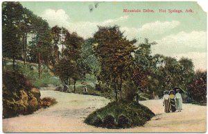 Mountain Drive, Hot Springs, AR c1910s Postcard