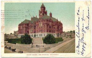 Court House, Los Angeles, CA c1905 Postcard