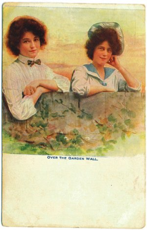 Over the Garden Wall, E. E. Haskin 1905 Postcard