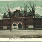 High School Building, LaPorte, Ind. c1909 Postcard