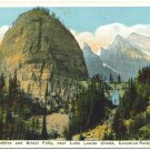 The Beehive & Bridal Falls, Lake Louise Chalet Postcard