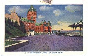 The Dufferin Terrace, Quebec Postcard