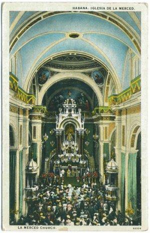 La Merced Church, Habana, Cuba c1932 Postcard