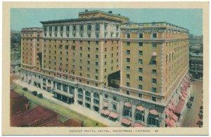 Mount Windsor Royal Hotel, Montreal, Canada Postcard