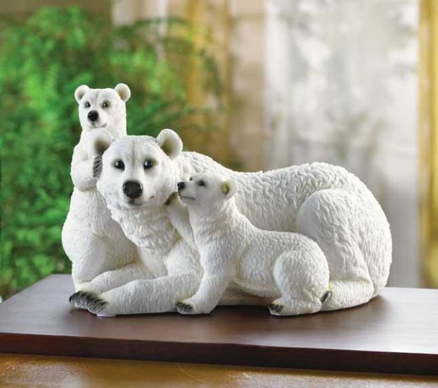 POLAR BEAR FAMILY FIGURINE