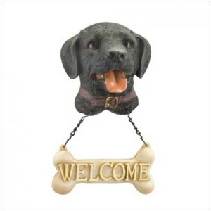 WELCOME DOG PLAQUE - BLACK LAB