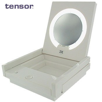 COMPACK FOLDING 2X MAGNIFYING COSMETIC MIRROR