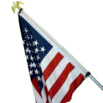6 FT. TELESCOPING ALUMINUM FLAG POLE KIT