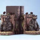 ALAB BEARS PINE CONES BOOKENDS