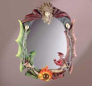 Wizard and Dragons Wall Mirror