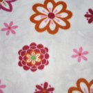 Daisies On Fuchsia Fleece Fabric - (1 yd Remnant Piece)