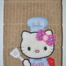 """""""Hello Kitty BBQ Grill Chef"""" Applique Kitchen Dishtowel"""