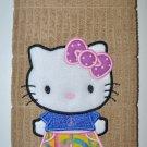 """Hello Kitty Bellbottoms"" Applique Kitchen Dishtowel"