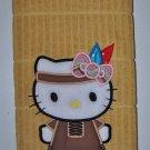 """Hello Kitty Indian Maiden"" Thanksgiving Applique Kitchen Dishtowel"