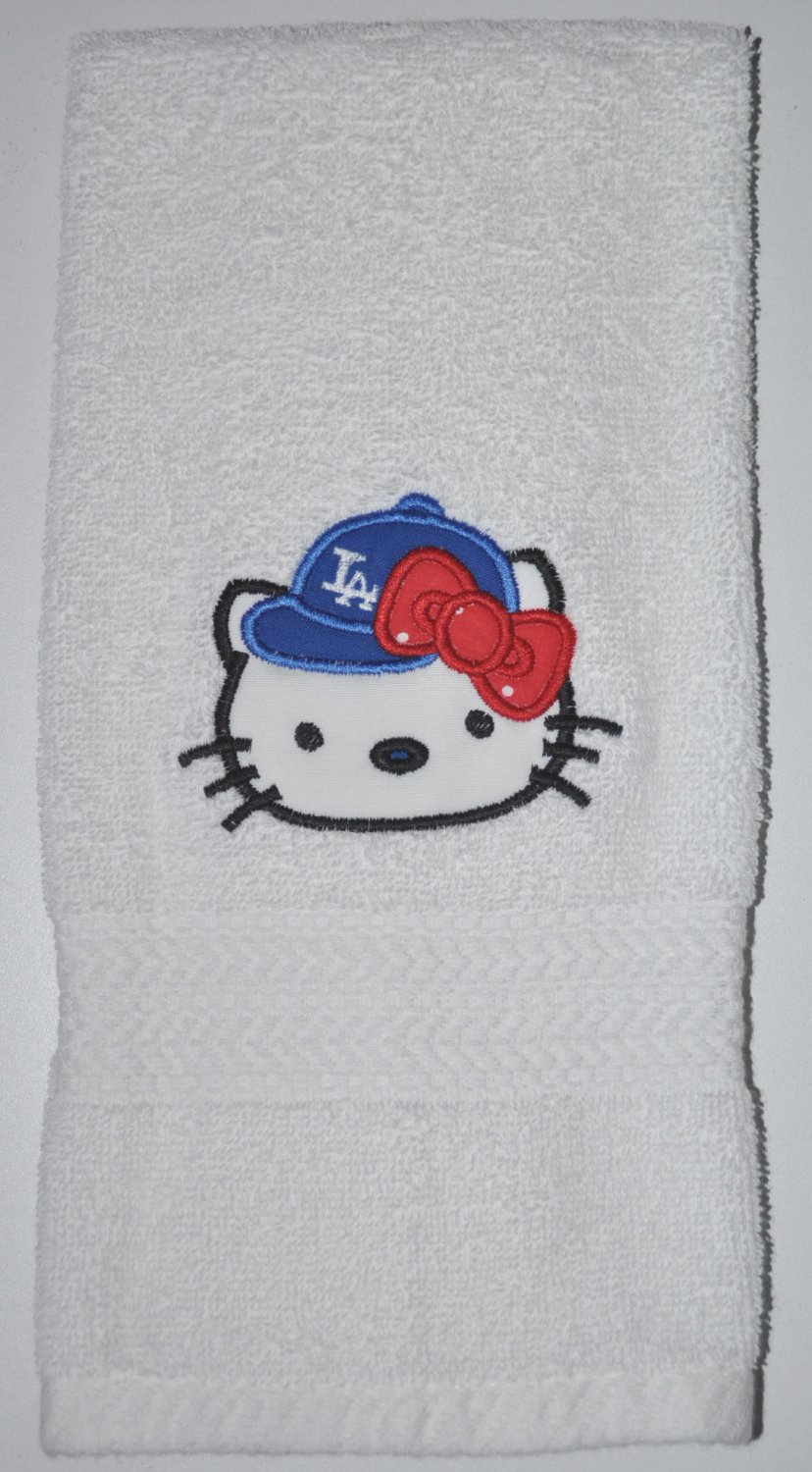 Embroidered Hand Towel  Hello Kitty Baseball (Los Angeles Dodgers)