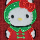 "Embroidered Dish Towel ""Hello Kitty Reindeer"""