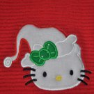"Embroidered Dish Towel ""Hello Kitty In A Santa Hat 1"""