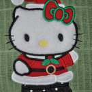 "Embroidered Dish Towel ""Hello Kitty In A Santa Suit 1"""