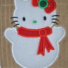 "Embroidered Dish Towel ""Hello Kitty Snowman 2"""