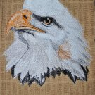 """Embroidered Dish Towel """"American Eagle Head"""""""