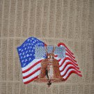"""Embroidered Dish Towel Item picture """"Liberty Bell & Flag"""""""
