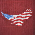 """Embroidered Dish Towel Item picture """"Soaring American Eagle"""""""
