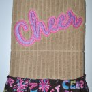 """Embroidered Dish Towel """"Cheer"""""""