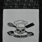 "Embroidered Dish Towel ""Jolly Cook Skull"""