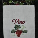 "Embroidered Dish Towel ""Vino Grapes"""