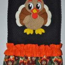 """Embroidered Dish Towel  """"Young Turkey"""""""