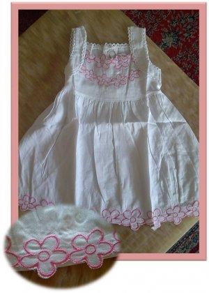 White Cotton Fashion Dress
