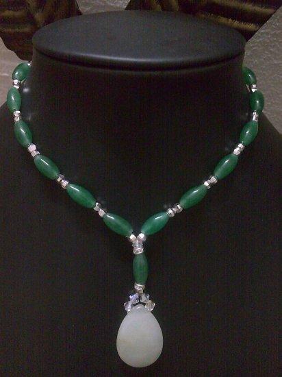 Teardrop Lariat Necklace - Semi Precious Stone