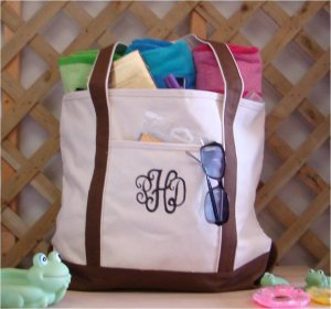 Large Beach tote Bag (Brown)