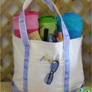 Large beach tote Bag (Violet camo)