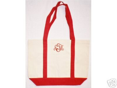 red/natural Boat tote bag