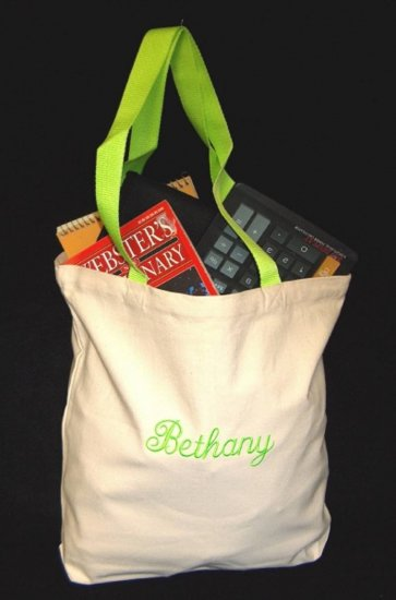 lime green strap tote