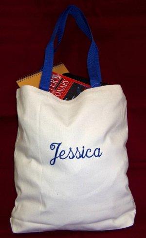 royal blue strap tote bag