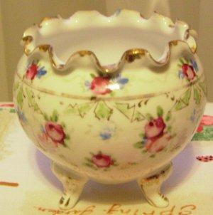 Deco Antique Porcelain Hand Painted Rose Bowl