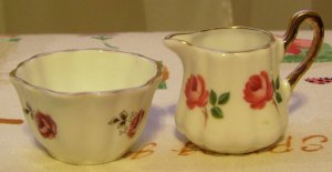 Sweet Sandford England Toy Size China Creamer & Sugar Set