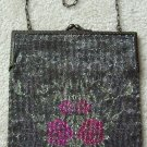 Victorian 1900s Glass Beaded Hand Bag Purse