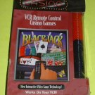 FREE USA Shipping NEW BlackJack 21 Play w/ VCR Remote Control VHS Cassette CASINO Game + Chips