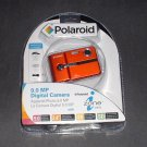 FREE USA Shipping NEW Polaroid CAA-930OC 9MP Digital Camera, USB Cable, Batteries Orange