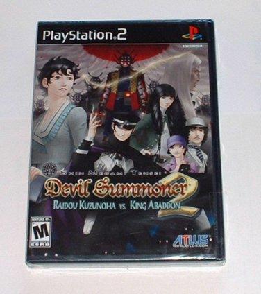 NEW Shin Megami Tensei Devil Summoner 2 Raidou Kuzunoha VS King Abaddon Sony PlayStation PS2 Game
