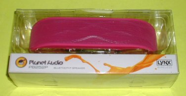 Planet Audio Lynx PB252 Pink Portable Bluetooth Wireless Speaker FREE USA Shipping BRAND NEW
