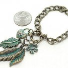 Ancient Leaves Chained Bracelet
