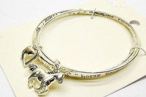 Galloping Horses Silver Bracelet