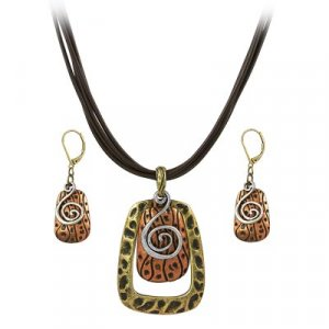Copper Necklace and Earring Set